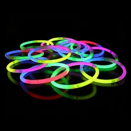 Glow in the Dark Armbandjes Driekleurig (100 stuks)