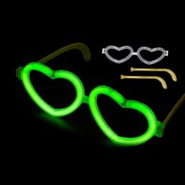 Lichtgevende Hartjes Bril Individueel (1 stuk)