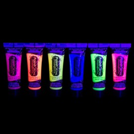 Neon Uv Verf met Glitter 10 ml