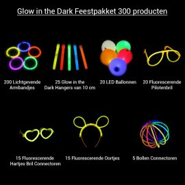 Glow in the Dark Feestpakket 300 producten