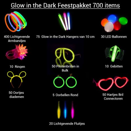 Glow in the Dark Feestpakket 700 pakketten