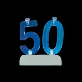 Número 50 Intermitente con 4 Velas